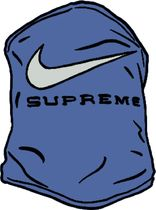 SS21 SUPREME NIKE NECK WARMER BLUE 青 ネック ウォーマー