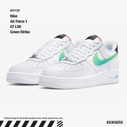 人気話題エアフォース!Nike Air Force 1 07 LV8 Green Strike