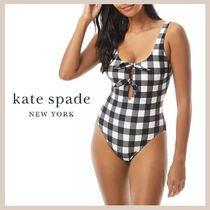 【kate spade】Bunny Gingham One Piece Swimsuit
