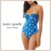 【kate spade】Printed Underwire One Piece Swimsuit