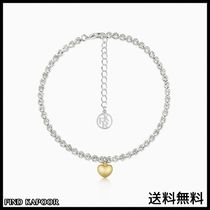 [FINDKAPOOR]CUBIC LINE GOLD HEART CHAIN SILVER ANKLET