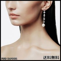 [FINDKAPOOR]CUBIC LINE PEARL POINT SILVER EARRINGS
