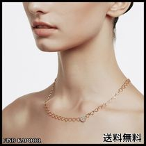 [FINDKAPOOR]HEART LINE HEART CHAIN GOLD NECKLACE
