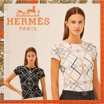 HERMES《Parcours sans Faute》マイクロプリント Tシャツ 2色