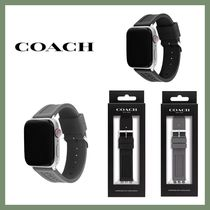 【COACH】Rubber 42/44mm Apple Watch band