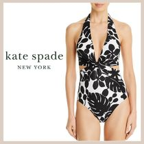 【kate spade】Printed Cutout One Piece Swimsuit