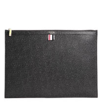 THOM BROWNE 21SS Pebble Leather ラージ クラッチバッグ