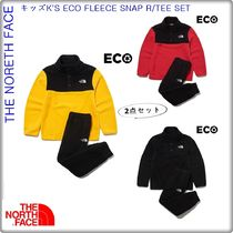 【THE NORTH FACE】★キッズ★ K'S ECO FLEECE SNAP R/TEE SET