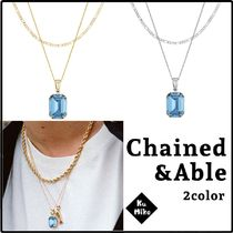 【Chained&Able/送料無料】BLUE STONE ネックレス 2color