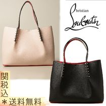 【CHRISTIAN LOUBOUTIN】Cabarock bag in leather with spikes