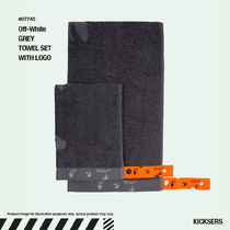 人気話題!Off-White GREY TOWEL SET WITH LOGO