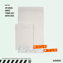 人気話題!Off-White WHITE TOWEL SET WITH LOGO