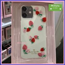 【kate spade】可愛い♪いちご柄★iPhone12♪各種対応★