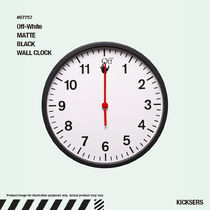 人気話題!Off-White MATTE BLACK WALL CLOCK