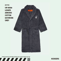 人気話題!Off-White LEAVES ARROWS COTTON BATHROBE GREY