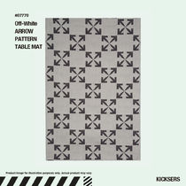 人気話題!Off-White ARROW PATTERN TABLE MAT