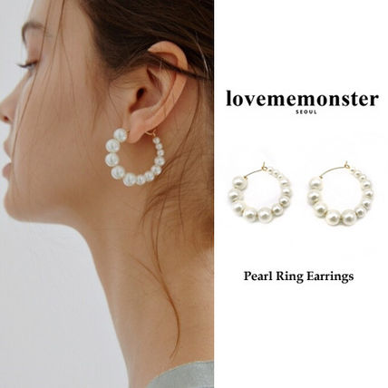 LOVE ME MONSTER正規品★Pearl Ring Earrings ピアース