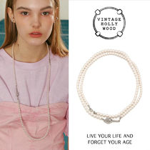 VINTAGE HOLLYWOOD★Play Tennis Opera Pearl Necklace/追跡付