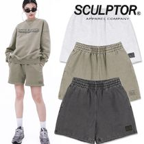 ★SCULPTOR★ 90's Logo Sweat shorts Washed