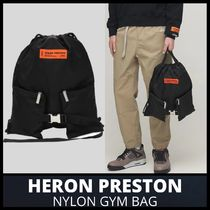 [HERON PRESTON] NYLON GYM BAG (送料関税込み)