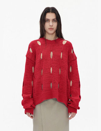 TheOpen Product ニット・セーター サンダラ着用☆Cut-Out Cotton Sweater/全3色/TheOpen Product(3)