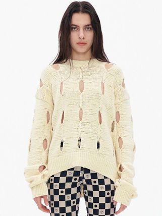 TheOpen Product ニット・セーター サンダラ着用☆Cut-Out Cotton Sweater/全3色/TheOpen Product