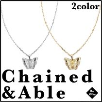 【Chained&Able/送料無料】BUTTERFLY CHAIN ネックレス 2color
