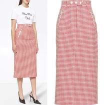 MM1309 GINGHAM CHECKED TWILL SKIRT