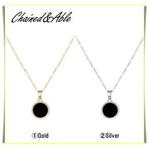 【Chained&Able】MINI ONYX FIGARO MEDALLION ネックレス☆(2色)