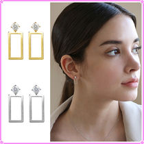 【LAZY DAWN】square cubic earring E027〜ピアス★2021SS