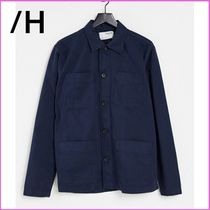 SELECTED(セレクトテッド) スウェット・トレーナー 関送込#Selected Homme 4 pockets オーバーシャツ washed navy