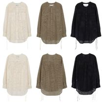 ★Andersson Bell_COLLARLESS EMBROIDERY COTTON SHIRTS★