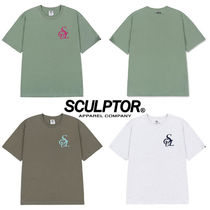 ★SCULPTOR★送料込み★韓国★人気★Flocking Symbol Logo Tee