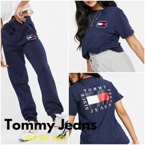 """""""Tommy Jeans"""" Flag ロゴ Tシャツ&ジョガー セットアップ"""
