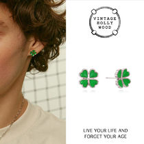 VINTAGE HOLLYWOOD★Mini Clover Post Earring/ピアス
