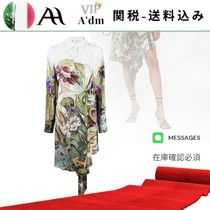 VIP◆botanical-print shirt dress