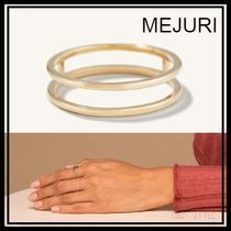 【MEJURI】ダブルラインリング Double Line Ring 14k solid gold