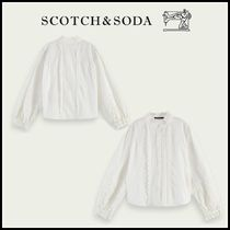 大人もOK♪ ☆Scotch & Soda☆Organic cotton top with broderie
