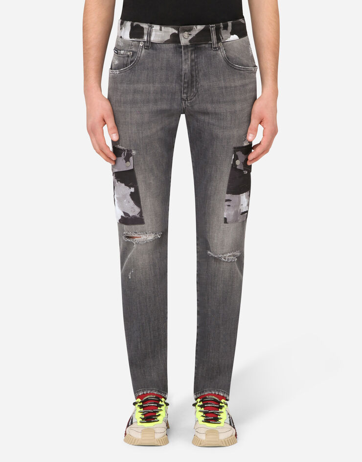 DOLCE & GABBANA(ドルガバ)Jeans with camouflage details (Dolce & Gabbana/デニム・ジーパン) 66717728