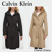 【Calvin Klein】Petite Hooded Belted トレンチコート