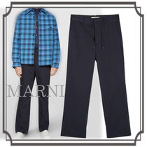 MARNI☆ Nylon and Cotton Jersey Pants with Laces for Belts