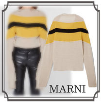 MARNI☆ Recycled Cashmere Long-sleeved Sweater with Band