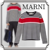 MARNI☆ Striped and Contrast Band Sweater メンズ Multicolor