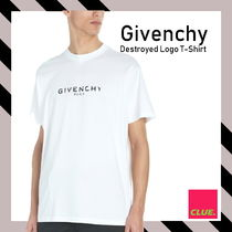 Givenchy★ジバンシィ Destroyed ロゴ コットン Tシャツ
