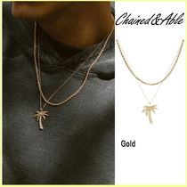 Chained & Able(チェーンドアンドエイブル) ネックレス・チョーカー 送料税込【Chained&Able】PALM TREE PENDANT ROPE LAYER☆国内発