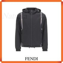 Fendi Windbreaker Jacket With Logo Tape
