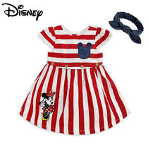 ★Disney★Minnie Mouse Striped Dress Set for Baby