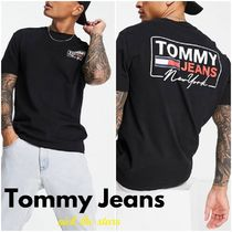 """""""Tommy Jeans"""" NYスクリプト バックプリント ボックス Tシャツ"""
