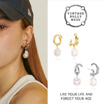 Vintage Hollywood★Bold Curved Earcuff Earring/ピアス