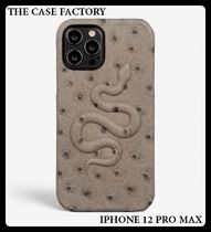 THE CASE FACTORY ★IPHONE 12 PRO MAXレザーケースグレー